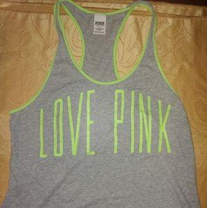 Victoria's Secret Pink Razorback Tank sz M